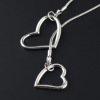 Thumbnail image for Amazon: Double Love Heart Silver Color Pendant Chain Necklace $2.09 Shipped