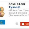 Thumbnail image for Walmart: Tyson Ground Chicken $1.58