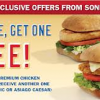Thumbnail image for Sonic: Buy One Get One FREE Premium Chicken Sandwiches