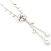Thumbnail image for White Flower Pendant Camellia Rhinestone Tassels Necklace $3.49