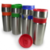 Thumbnail image for Amazon: Set of 4 14-Ounce Reusable Stainless Steel Travel Mugs with Grip $19.95