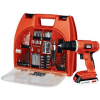 Thumbnail image for Amazon Daily Deal: Black & Decker 20-Volt MAX Lithium-Ion Drill Kit with 100 Accessories $62.99