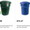 Thumbnail image for Home Depot: Rubbermaid Roughneck 32 Gallon Trash Can $9.88 + Free In Store Pick Up!