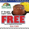 Thumbnail image for Farm Fresh: FREE Bakery 5″ Double Layer Cake With $10 Purchase