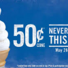 Thumbnail image for Burger King: $.50 Ice Cream Cones May 28 – Aug 5th