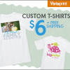 Thumbnail image for Vistaprint: Custom T-Shirt $6 + FREE Shipping