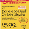 Thumbnail image for Whole Foods: Boneless Beef Sirloin Steak $5.99 lb (8/30)