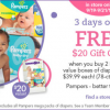 Thumbnail image for Babies R Us: Get a $20 Gift Card When you Buy 2 Pampers Value Boxes