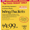 Thumbnail image for Whole Foods: Chicken Wing Buckets $4.99 Each
