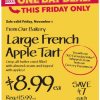 Thumbnail image for Whole Foods: Large French Apple Tart $8.99 11/1 Only