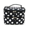 Thumbnail image for Amazon-Double Layer Cosmetic Bag Black with White Dot Travel Toiletry Cosmetic Makeup Bag $5.45 Shipped