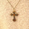 Thumbnail image for Amazon-Classic Vintage Champagne Cross Pendant With Chain $0.70