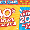 Thumbnail image for Justice Flash Sale: 40% Off PLUS 20% Off  PLUS Earn $50 in Rewards when You Spend $50!