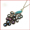 Thumbnail image for Amazon-Retro Peacock Crystal Necklace $0.90 Shipped!