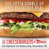 Thumbnail image for Sonic: Half-Price Cheeseburgers on November 26