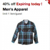 Thumbnail image for Target Cartwheel – 40% off Men's Apparel Coupon