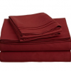 Thumbnail image for 1200 Thread Count Queen Sheets: Burgundy-$17.78
