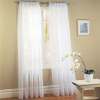 Thumbnail image for 2 Piece Solid White Sheer Window Curtain-$6.47 Shipped