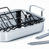 Thumbnail image for Amazon-Calphalon Stainless Steel 14″ Roaster with Nonstick Rack & Stainless Steel Lifters $54.00