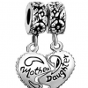Thumbnail image for Amazon-Pugster Heart Mother & Daughter Beads Fit Pandora Chamilia Biagi Charm Bracelet $9.99
