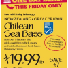 Thumbnail image for Whole Foods Mid-Atlantic: Chilean Sea Bass $19.99 lb