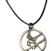 Thumbnail image for The Hunger Games Movie Mockingjay Pendant on Leather Cord $2.27 Shipped