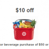 Thumbnail image for Target: $10 off of $50 Grocery Purchase (Printable Coupon)