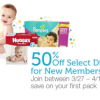 Thumbnail image for New Amazon Mom Members Get 50% Off Select Diapers- Ends Today