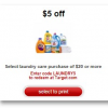 Thumbnail image for Target: $5 off of $20 Laundry Care Purchase