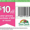 Thumbnail image for Farm Fresh Coupon: $10 off of $50 Coupon