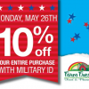 Thumbnail image for Farm Fresh Supermarkets: May 26th Military 10% Off Your Purchase