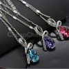 Thumbnail image for Amazon: Silver Plated Crystal Drop Pendant Necklace $1.93