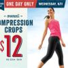 Thumbnail image for Old Navy: $12 Women's Active Crop Pants Today Only