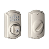 Thumbnail image for Amazon-Schlage BE365 CAM 619 Camelot Keypad Deadbolt, Satin Nickel $79.99
