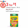 Thumbnail image for Today Only Toys R Us: Crayola Crayons for $0.33