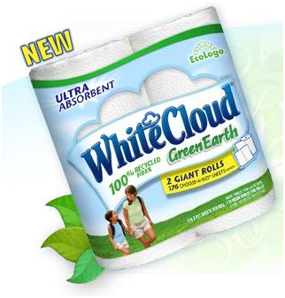 white cloud green earth