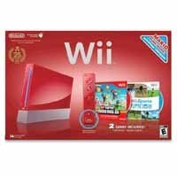 red-wii-console