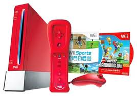 wii red console
