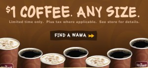 Post image for Reminder: WaWa Coffee $1 Any Size