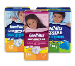 Post image for FREE Sample Children's GoodNites Underwear