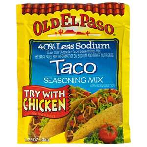 Post image for Food Lion: Old El Paso Taco Seasoning $.13 Each