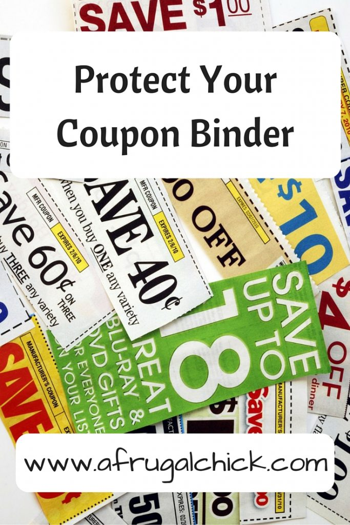 Protect Your Coupon Binder