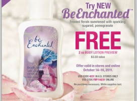 Post image for Bath and Body Works: Free 2 Oz BeEnchanted Body Lotion