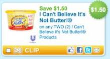 Post image for I Can't Believe It's Not Butter Coupons