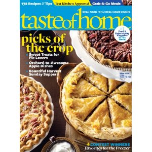 Post image for Taste of Home Magazine Only $3.99 Per Year – 10/22