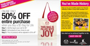 Post image for The Body Shop: 50% Off Everything, Charitable Donation & FREE Shipping