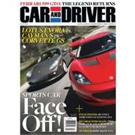 Post image for Car & Driver Magazine: $3.60/yr