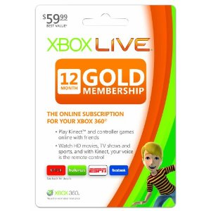 Post image for Xbox 360 Live Subscription Gold Card 12 Months $36