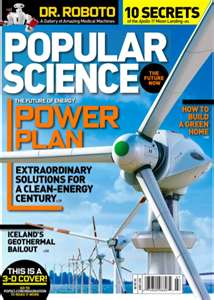 Post image for Popular Science Magazine For $4.99 Per Year