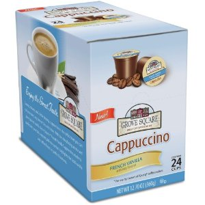 Post image for Amazon: Grove Square Cappuccino Cups, French Vanilla K-Cup (24 cups) $8.92